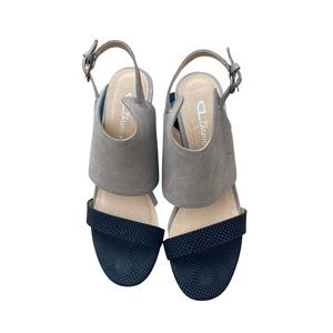 CL by LAUNDRY Two-tone Wedge Heels 8